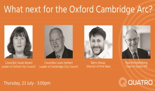 A wide ranging discussion on the future of the Oxford Cambridge Arc